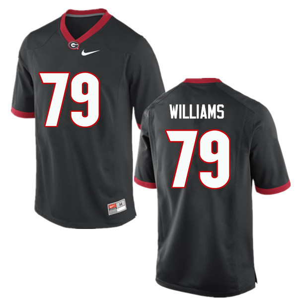 Men Georgia Bulldogs #79 Allen Williams College Football Jerseys-Black
