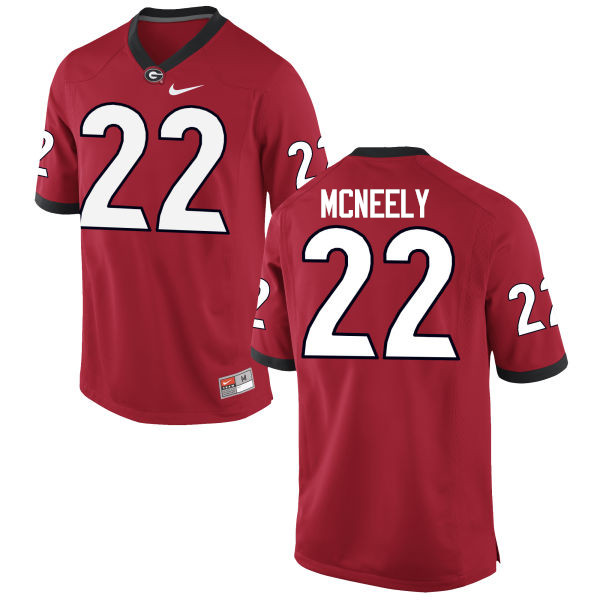 Men Georgia Bulldogs #22 Avery McNeely College Football Jerseys-Red