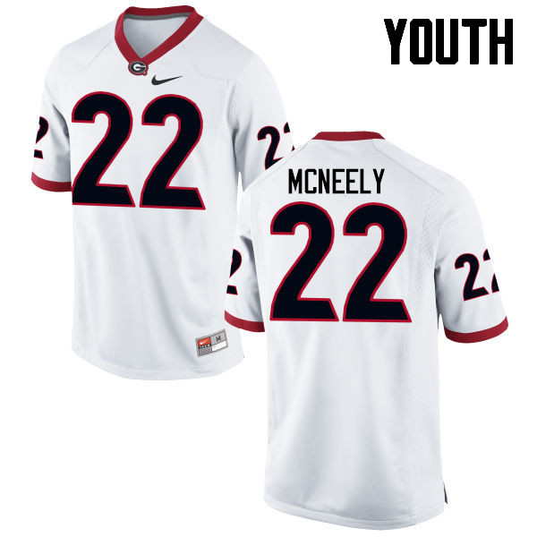 Youth Georgia Bulldogs #22 Avery McNeely College Football Jerseys-White