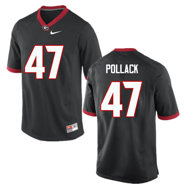 Men Georgia Bulldogs #47 David Pollack College Football Jerseys-Black