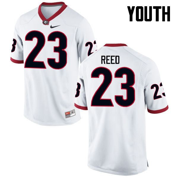 Youth Georgia Bulldogs #23 J.R. Reed College Football Jerseys-White