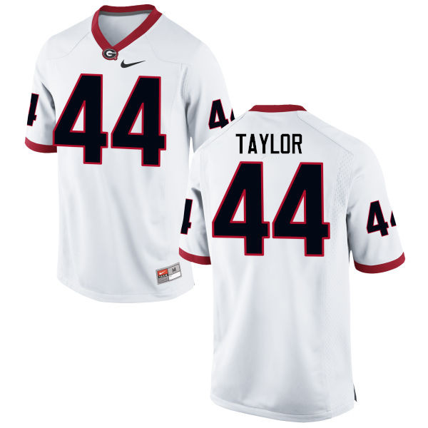 Men Georgia Bulldogs #44 Juwan Taylor College Football Jerseys-White