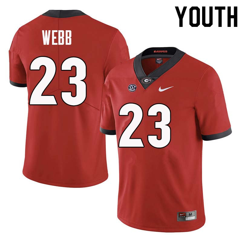 Youth Georgia Bulldogs #23 Mark Webb College Football Jerseys Sale-Red