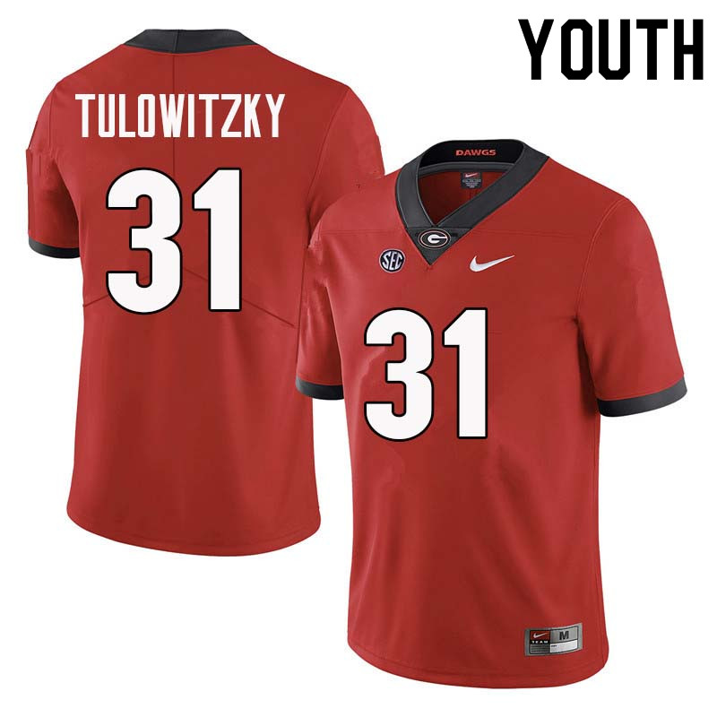 Youth Georgia Bulldogs #31 Reid Tulowitzky College Football Jerseys Sale-Red